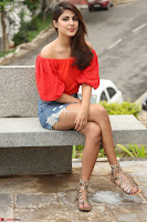 Rhea Chakraborty in Red Crop Top and Denim Shorts Spicy Pics ~  Exclusive 340.JPG