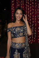 Nora Fatehi in Blue Emroidery Ghagra Choli at Zee Telugu Apsara Awards 2017 02.JPG