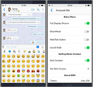 BBM Mod iPhone Like iOS Versi 3.3.8.73 Apk For Android
