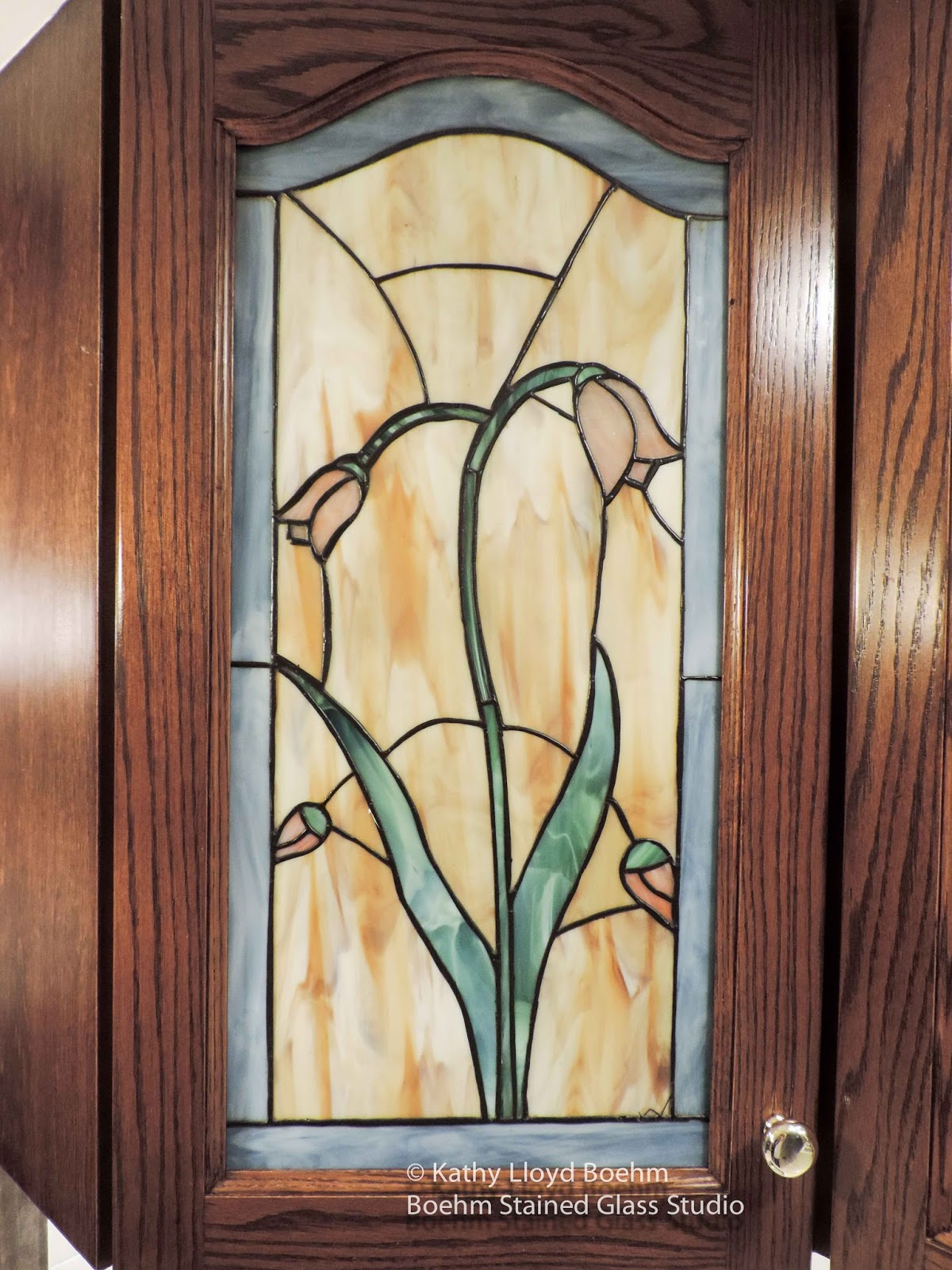 Boehm Stained Glass Blog: Stained Glass Kitchen Cabinet Update