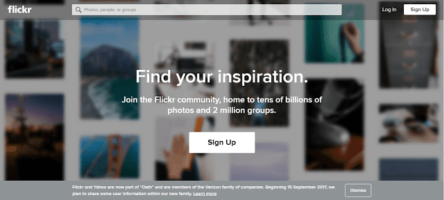 Flickr for free images and free photos