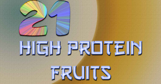 What Fruits High In Protein