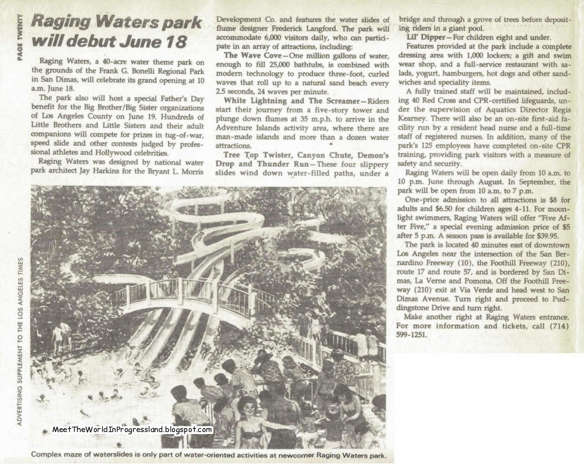 Meet The World: Places I've Never Been - Raging Waters