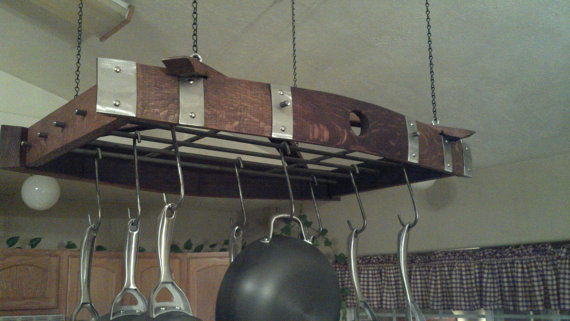 Dishfunctional Designs Creative Upcycled Kitchen Pot Racks