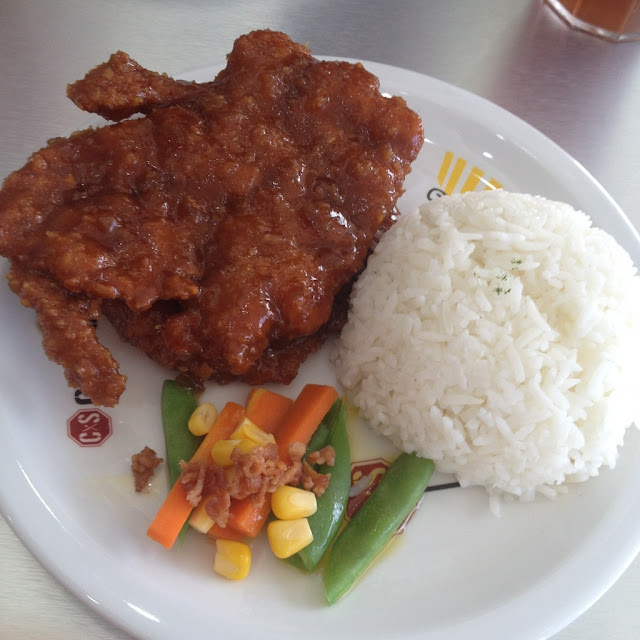 chili pork chops at Chop Stop Restaurant