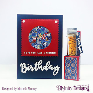 Divinity Designs Stamp/Die Duos: Birthday, Custom Dies: Circles, Scalloped Squares, Test Tube Treats, Festive Favors, Paper Collection: Nautical Collection, Large Test Tubes