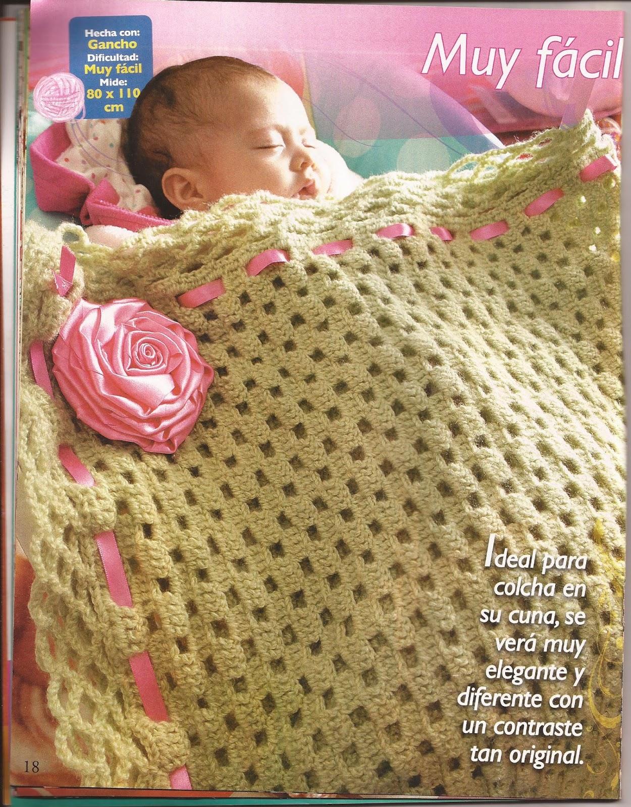 PATRONES GRATIS DE CROCHET: Manta para bebe a crochet muy sencilla ...