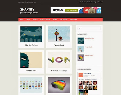 Smartify Free Blogger Template