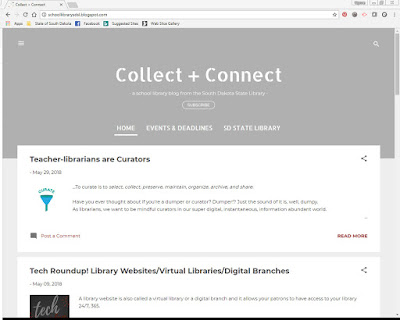 screenshot of collect plus connect blog web page