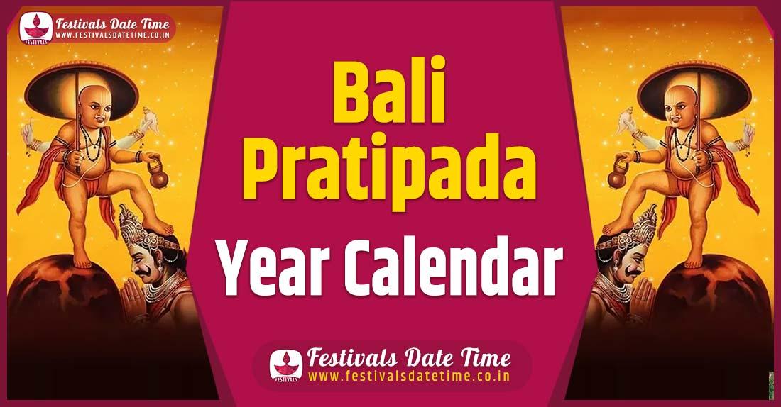 Bali Pratipada Year Calendar, Bali Pratipada Festival Schedule