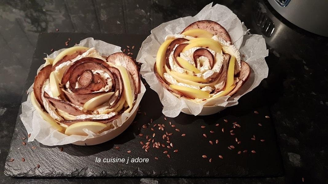 la cuisine j adore rosace de pommes et camenbert aop de normandie au parfum. Black Bedroom Furniture Sets. Home Design Ideas