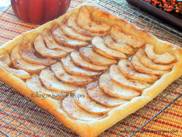 Apple Tart from Walking on Sunshine Recipes.