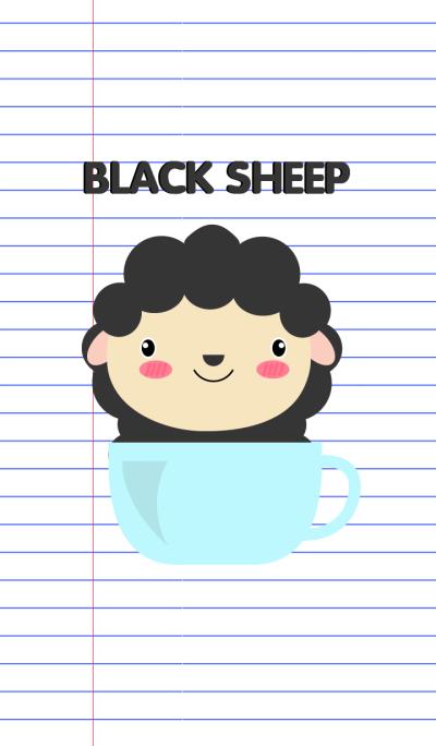 Simple Cute Black Sheep Theme V.2