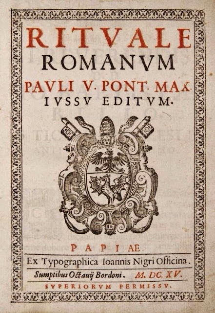 Resultado de imagen de rituale romanum 1614