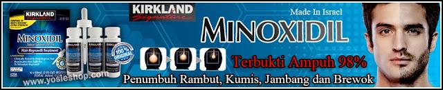 Kirkland Signature Minoxidil 5% Hair Regrowth Treatment - Obat Cair Penumbuh Rambut, Brewok, Jenggot, Jambang, Kumis Original 98% Ampuh dan Cepat