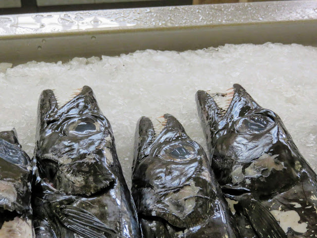black scabbardfish (espada) at Mercado dos Lavradores on Funchal, Madeira