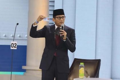 Sandiaga Uno Singoh Seumayang Jeumeu'at di Seumijid Raya Banda Aceh
