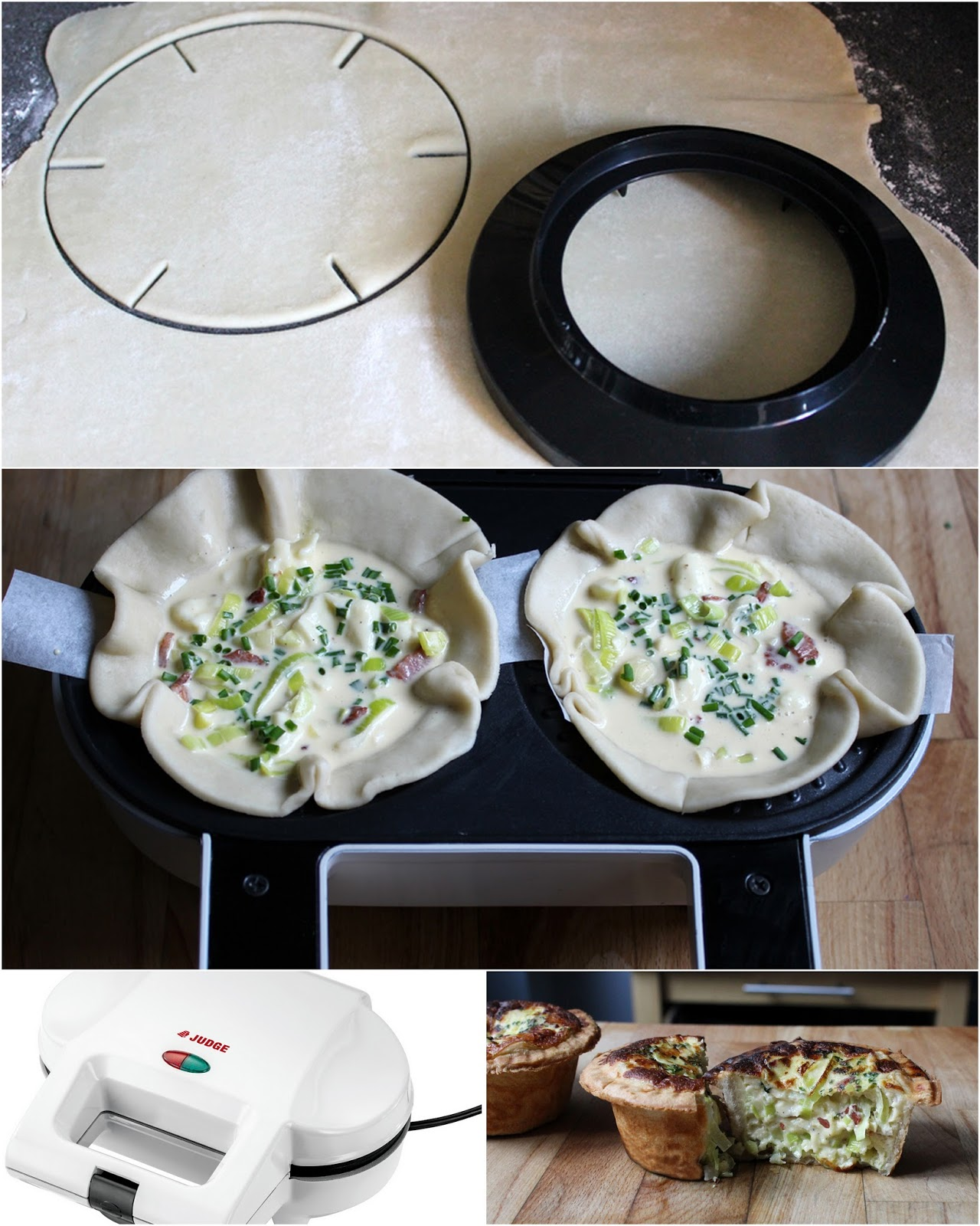 Step by step how to use an electric pie maker