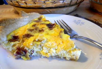 have a piece cheesy bacon quiche