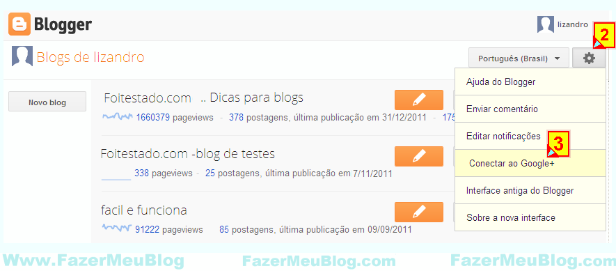 mudar o perfil do blogger para plus google profiler