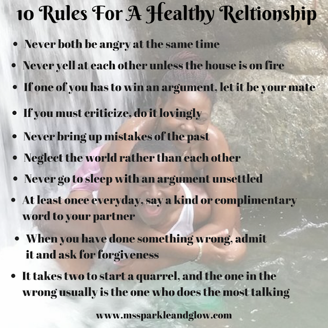 Rules For A Healthy Relationship