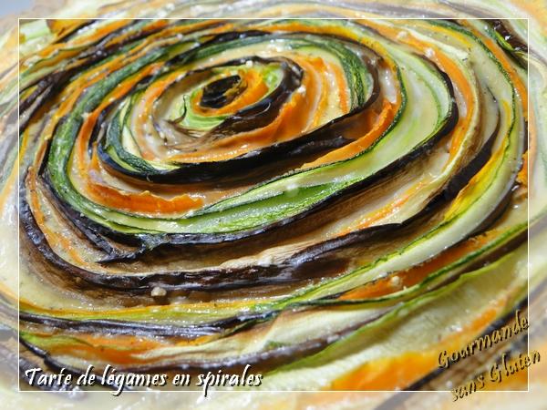 Tarte aux légumes en spirales, sans gluten