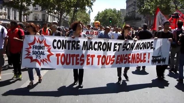 Se manifiestan en Francia contra la destrucción del modelo social