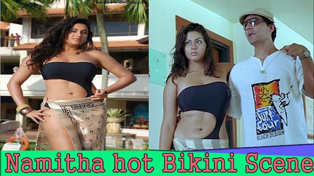 Namitha Hot Bikini Swimming Scene