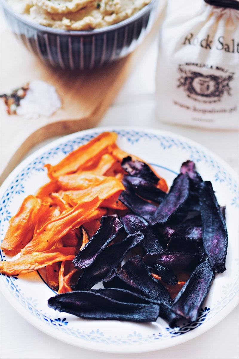 Przepis na chipsy z marchewki.