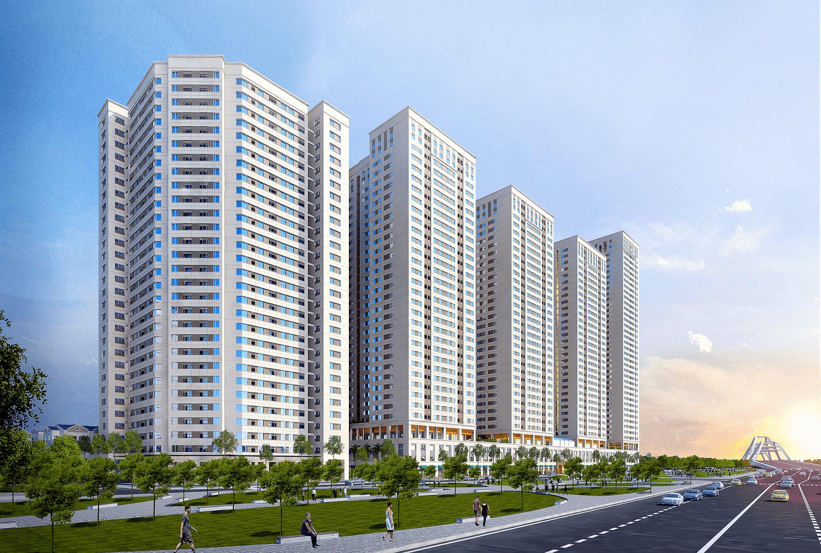 Phối cảnh tổng thể dự án chung cư Eurowindow River Park Đông Hội
