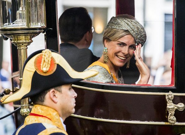 King Willem-Alexander, Queen Maxima, Princess Laurentien and Prince Constantijn attend the opening of the Prince's Day 201. Maxima wore Natan dress7