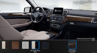 Nội thất Mercedes GLS 350d 4MATIC 2015 màu Vàng Ginger/Đen 245