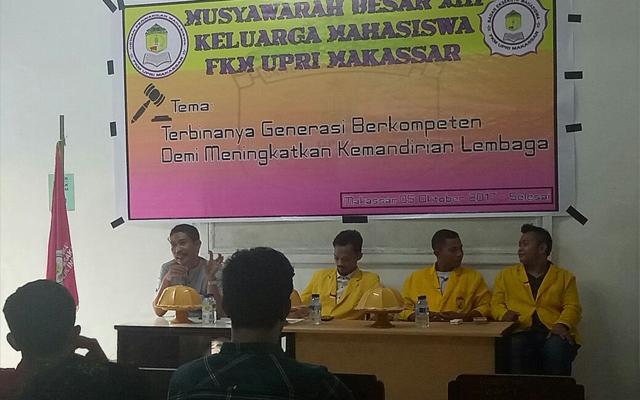Keluarga Mahasiswa FKM UPRI Makassar Gelar MUBES XIII