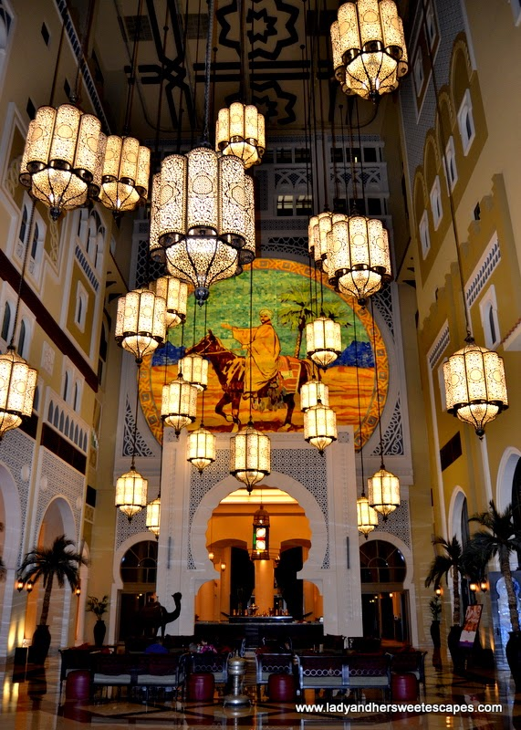 Arabian lanterns at Movenpick Hotel Ibn Battuta Gate