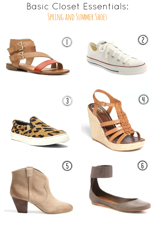 Fill in the holes in your wardrobe- A great list of shoe and sandal basics as well as links to basic tops and basic bottoms.
