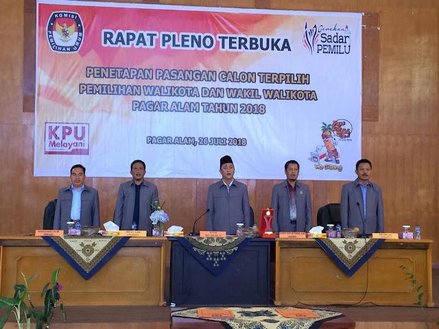 KPU Tetapkan Walikota dan Wakil Walikota Terpilih