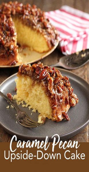 Caramel Pecan Upside-Down Cake