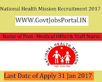 National Health Mission – 83 Medical Officers, Staff Nurse