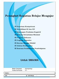 Perarangkat Pembelajaran Antropologi Kelas X SMA/MA Semester 1 Kurikulm 2013