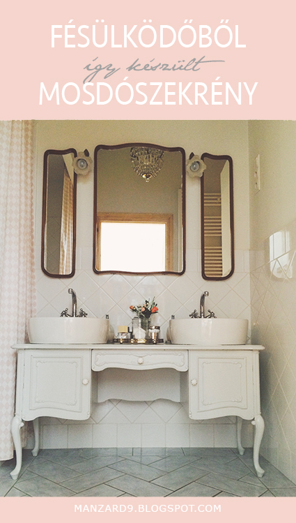 How to turn a dressing table into a double vanity - DIY tutorial