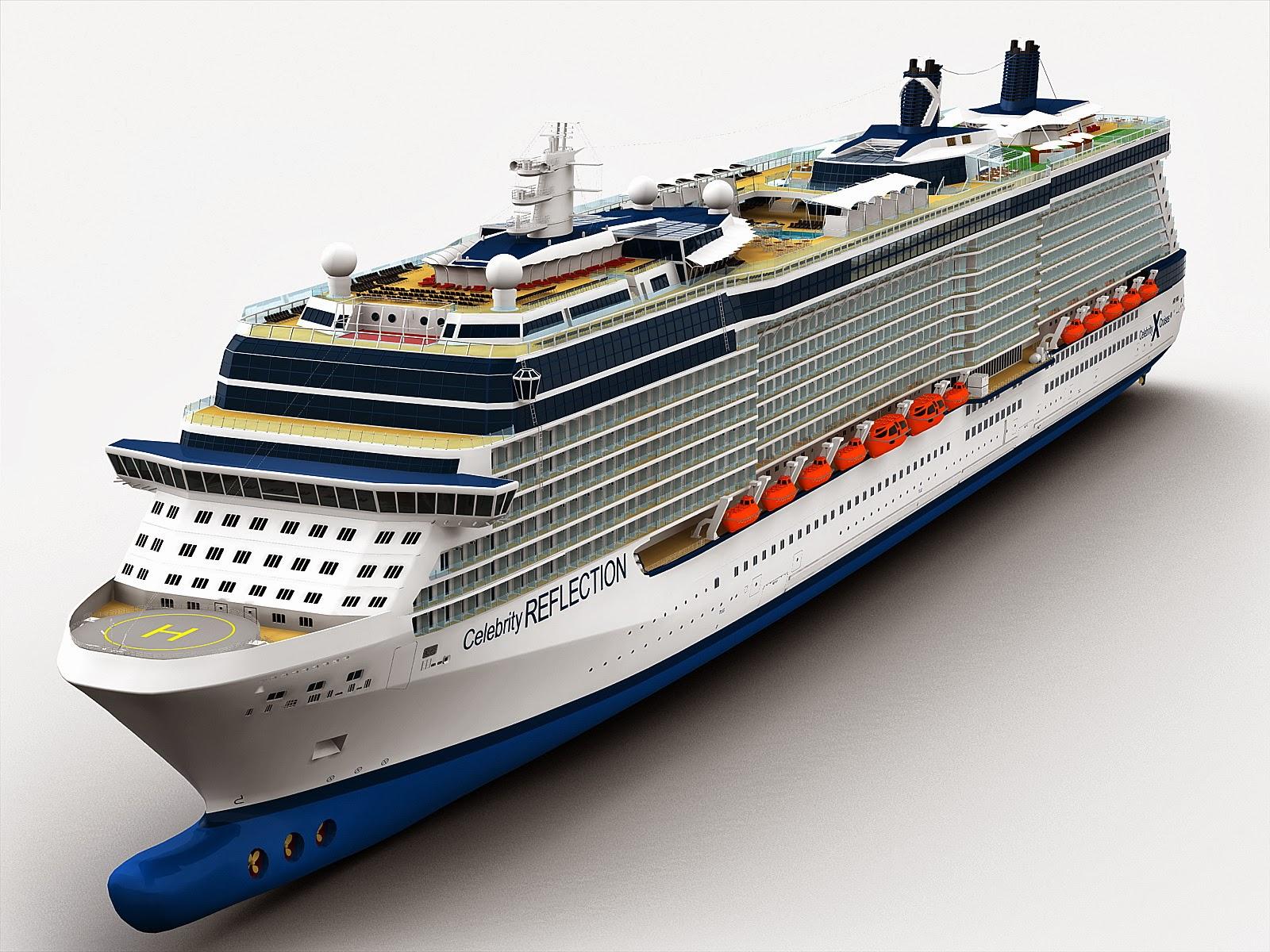 Florida Cruise Traveler Navy Celebrity Reflection 3d View