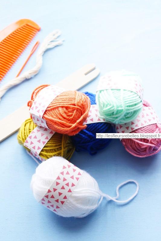 Pelotes de laine coffret tissage