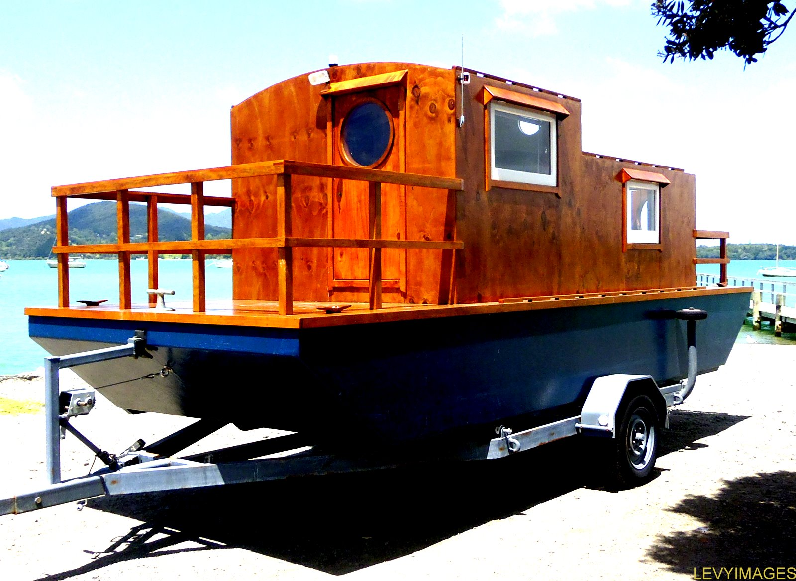 The Flying Tortoise Tiny Houseboat On Wheels