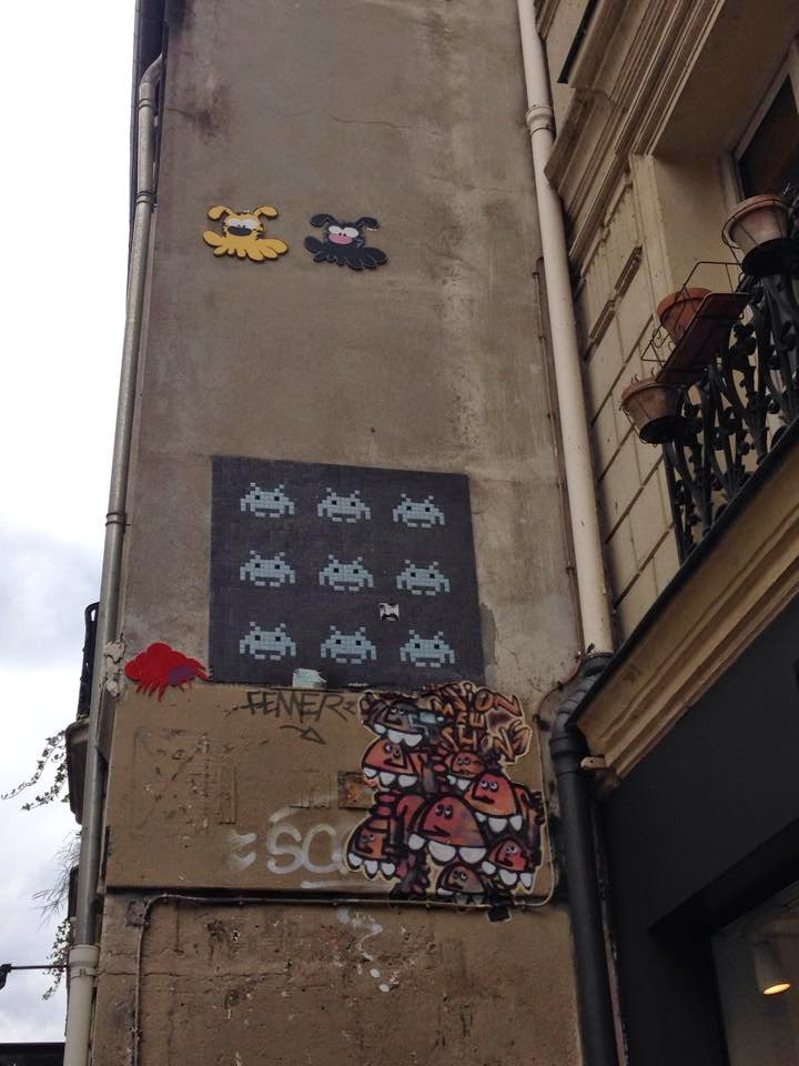 Streetart, Urbanart, Space Invader, France
