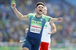 Paraibano quebra recorde mundial e ganha ouro na final dos 100 metros rasos no Rio 2016