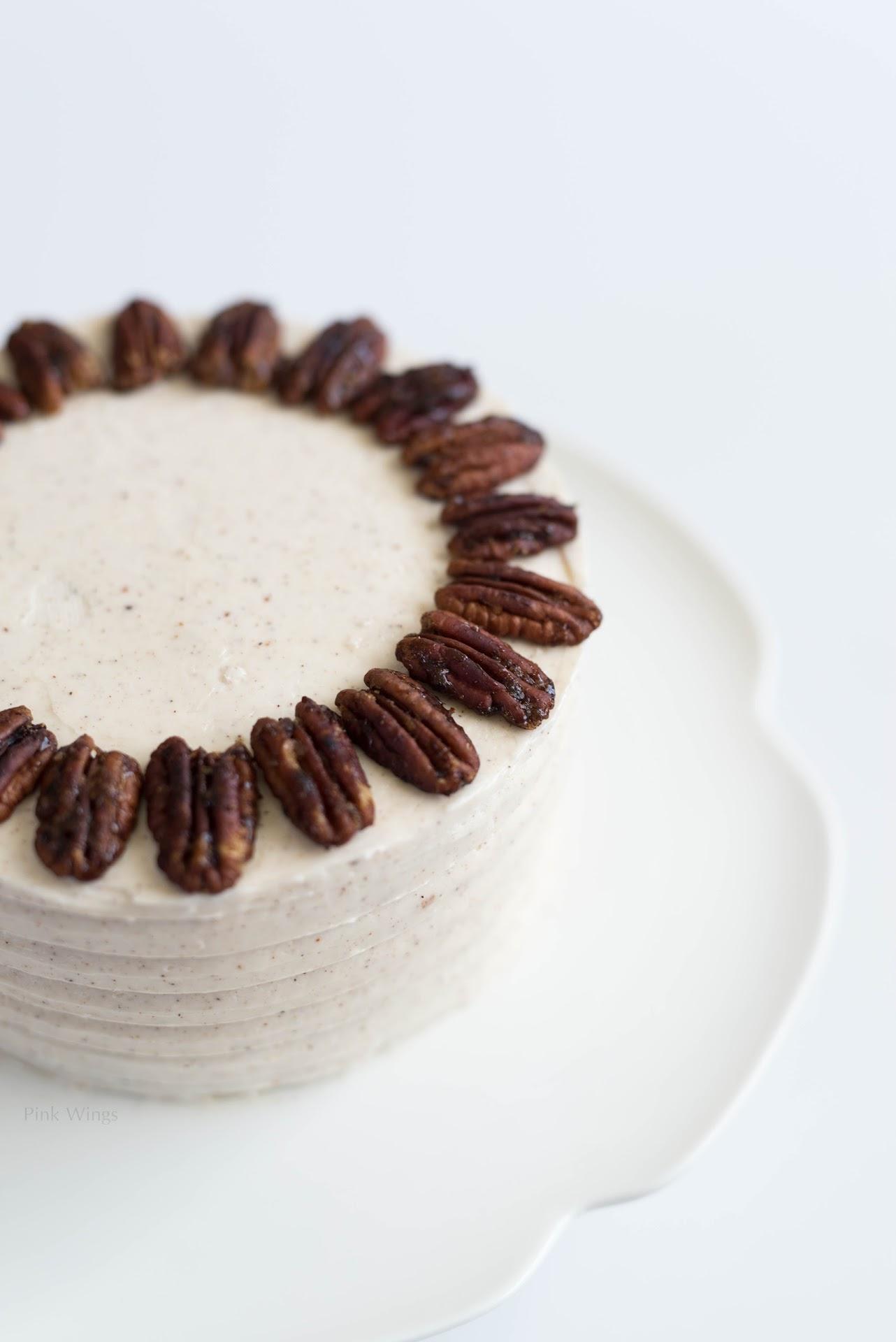 six inch cake, small mini cake, pear dessert, fall autumn, cinnamon nutmeg icing
