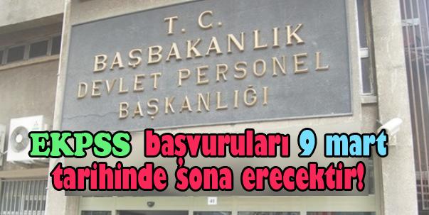 DPB, EKPSS Başvuruları 9 Mart'ta son bulacak