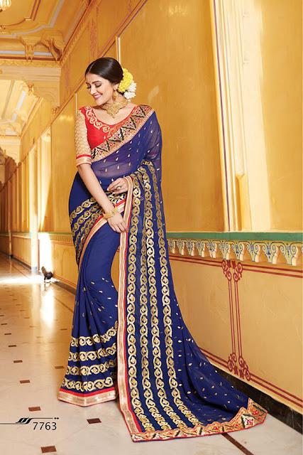 Buy Online Heavy Designer Wedding Special Saree