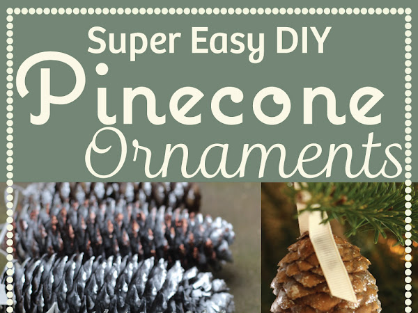 Easy DIY Pinecone Ornaments