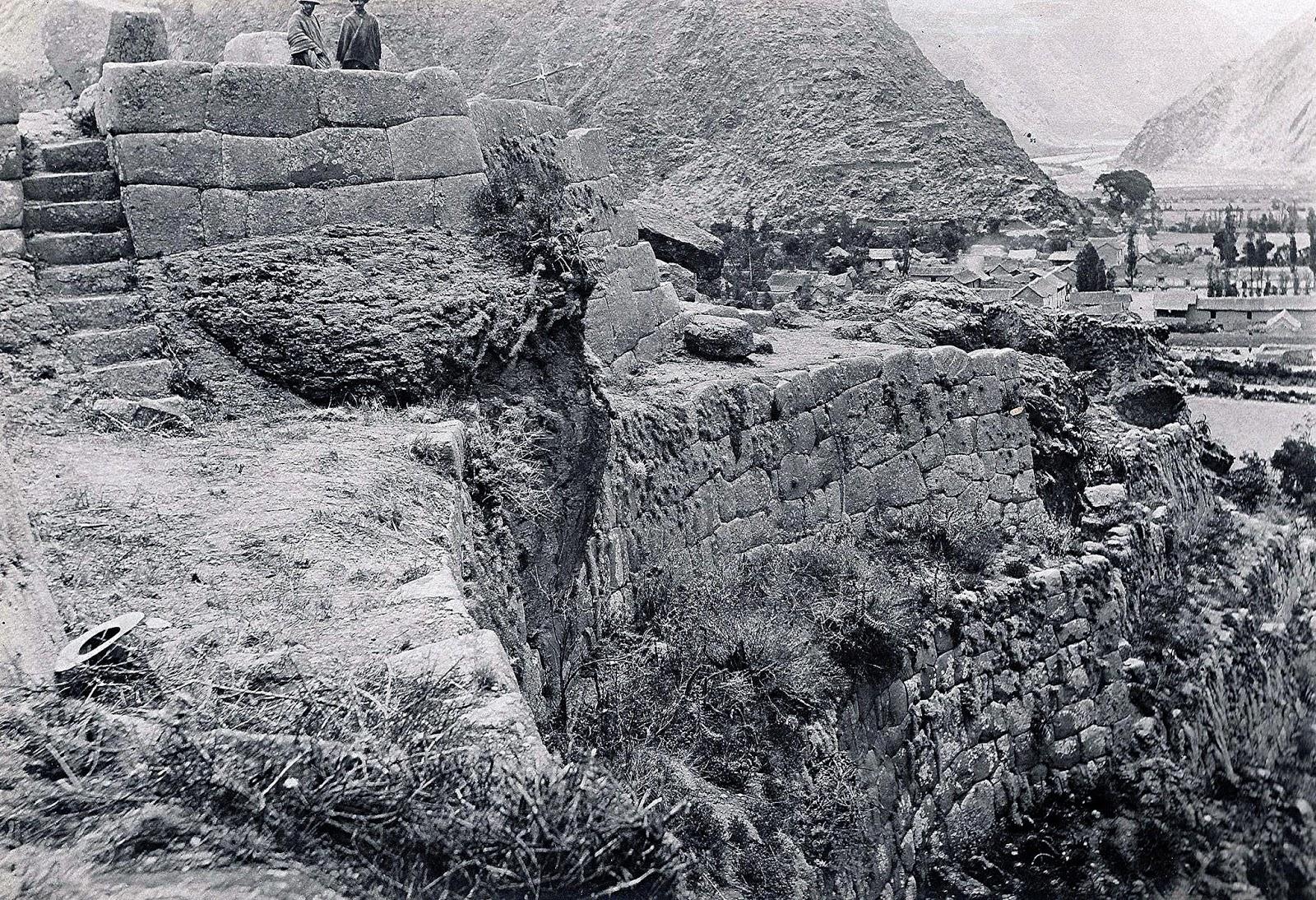 Fotos antiguada de Ollantaytambo
